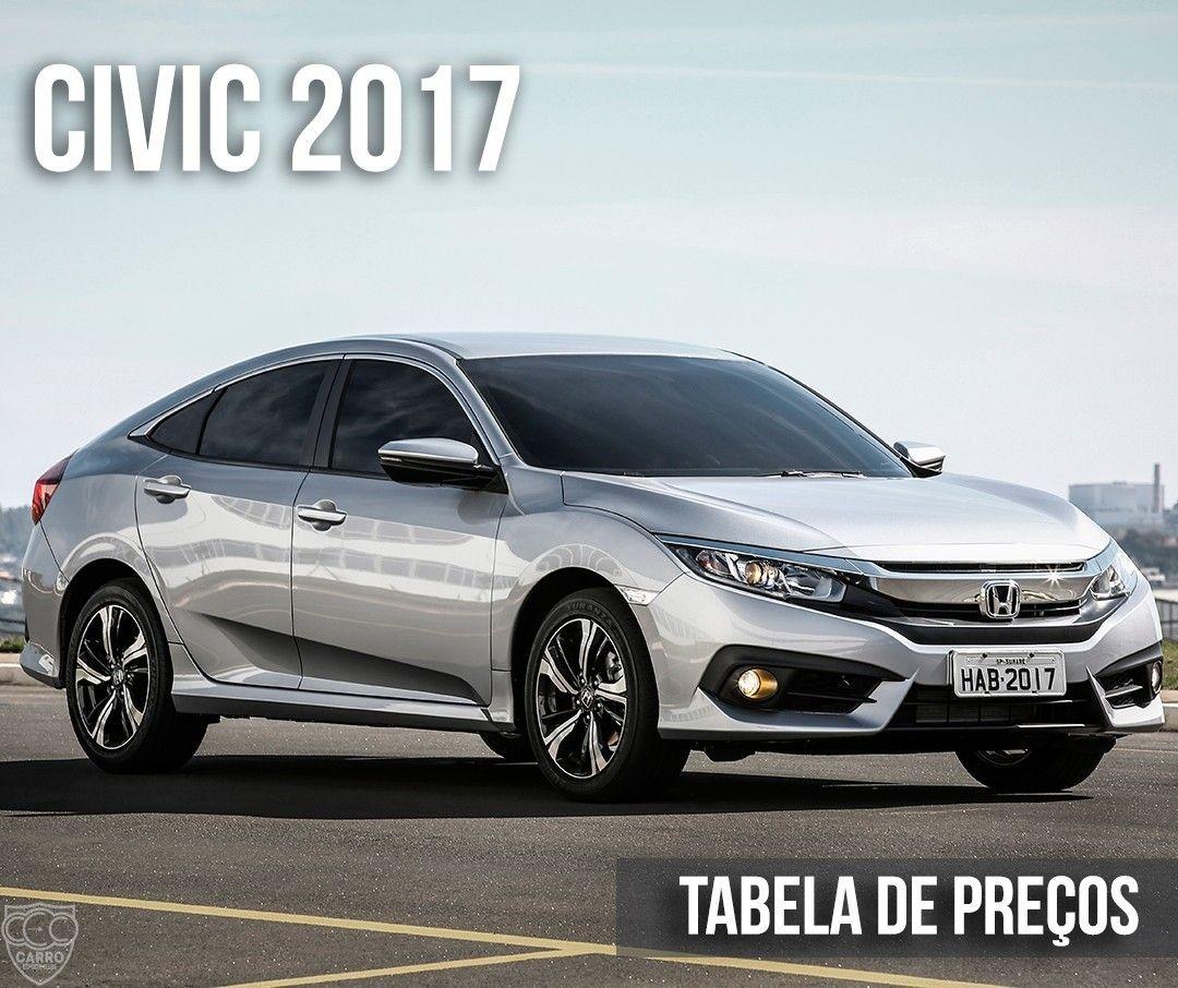 Honda Civic 2017 A 10ª geração do sedã médio acaba de
