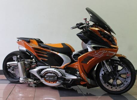 Top modifikasi motor matic vario 125