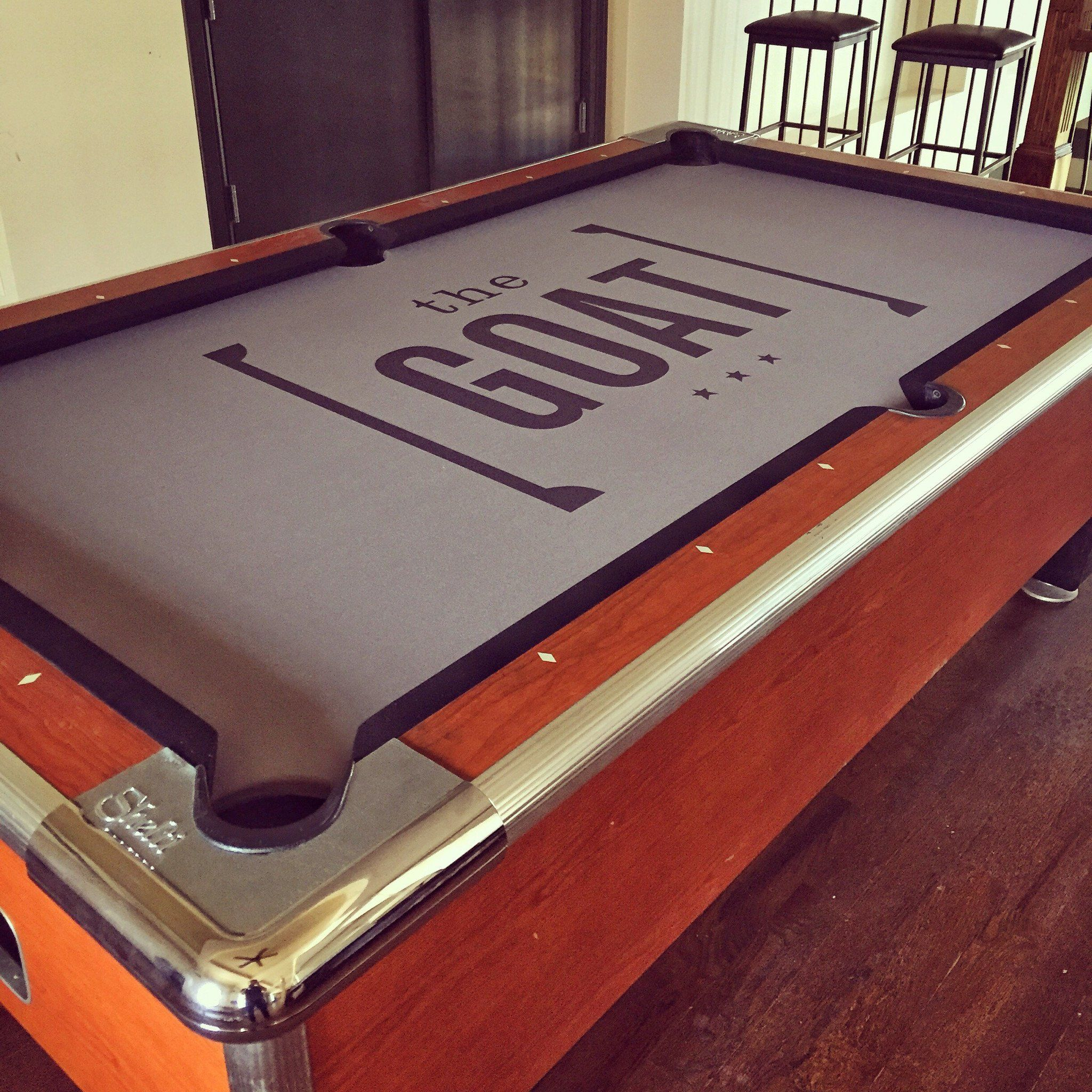Custom Pool Table Felt With Matching Rails Home Improvement - Pool table felt repair near me