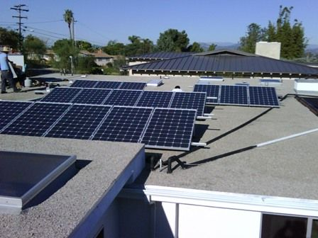 3 92 Kw Flat Roof Tilt Mounted Solar Panel System By Solare Energy Solar Panels Solar Panel Installation Roof Solar Panel