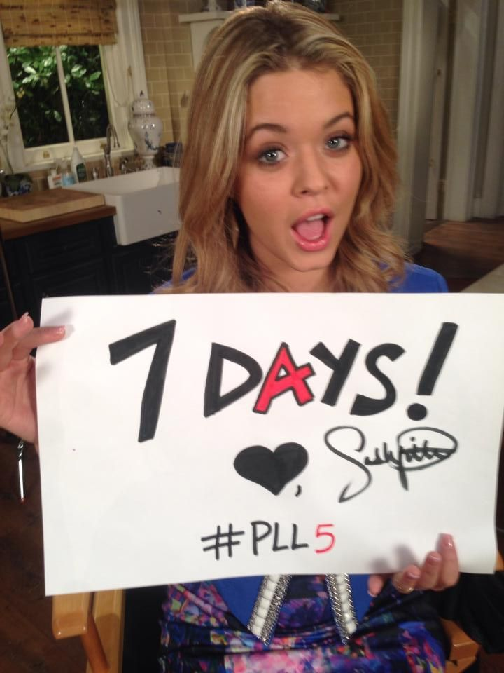 OMG!!! Only 7 days until the #PLL summer premiere!  Sasha #PLL5