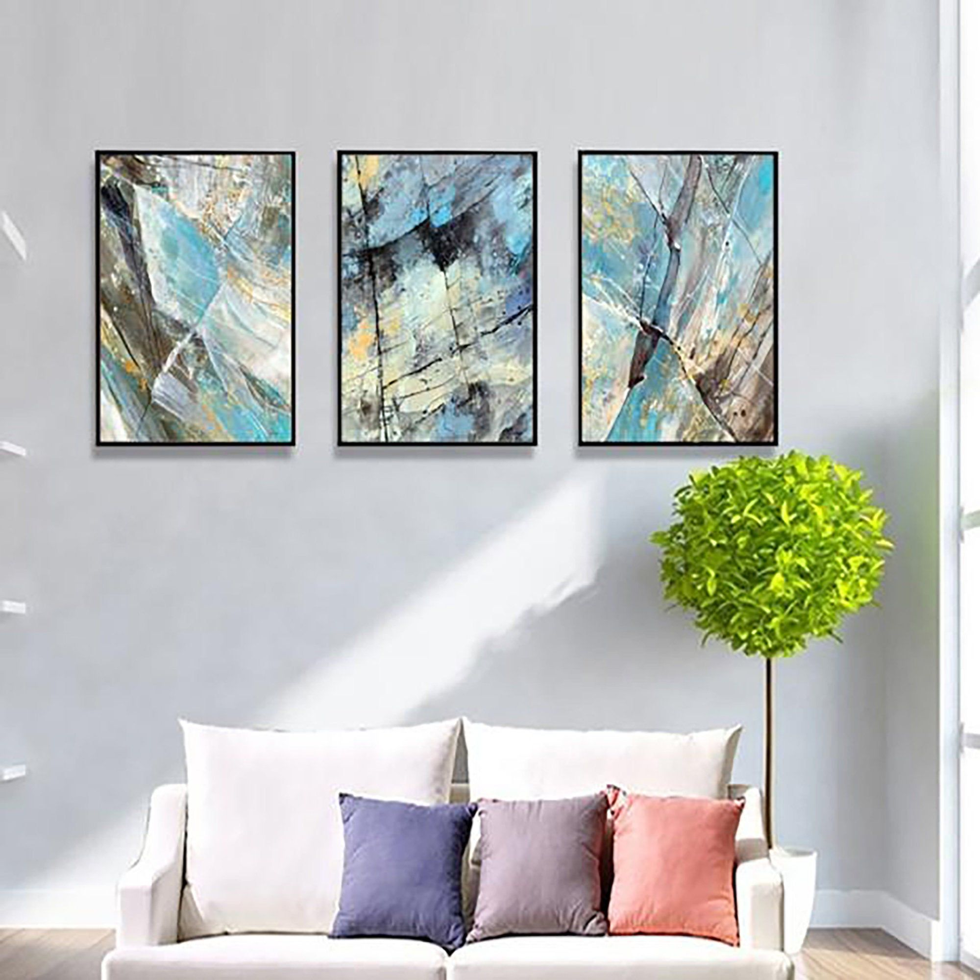 Nordic Modern Contracted Color Abstract Decorative Painting Canvas Paintings Living Room Bedroom Abstract Decorative Painting Decorative Painting Picture Wall #paintings #for #decoration #in #living #room