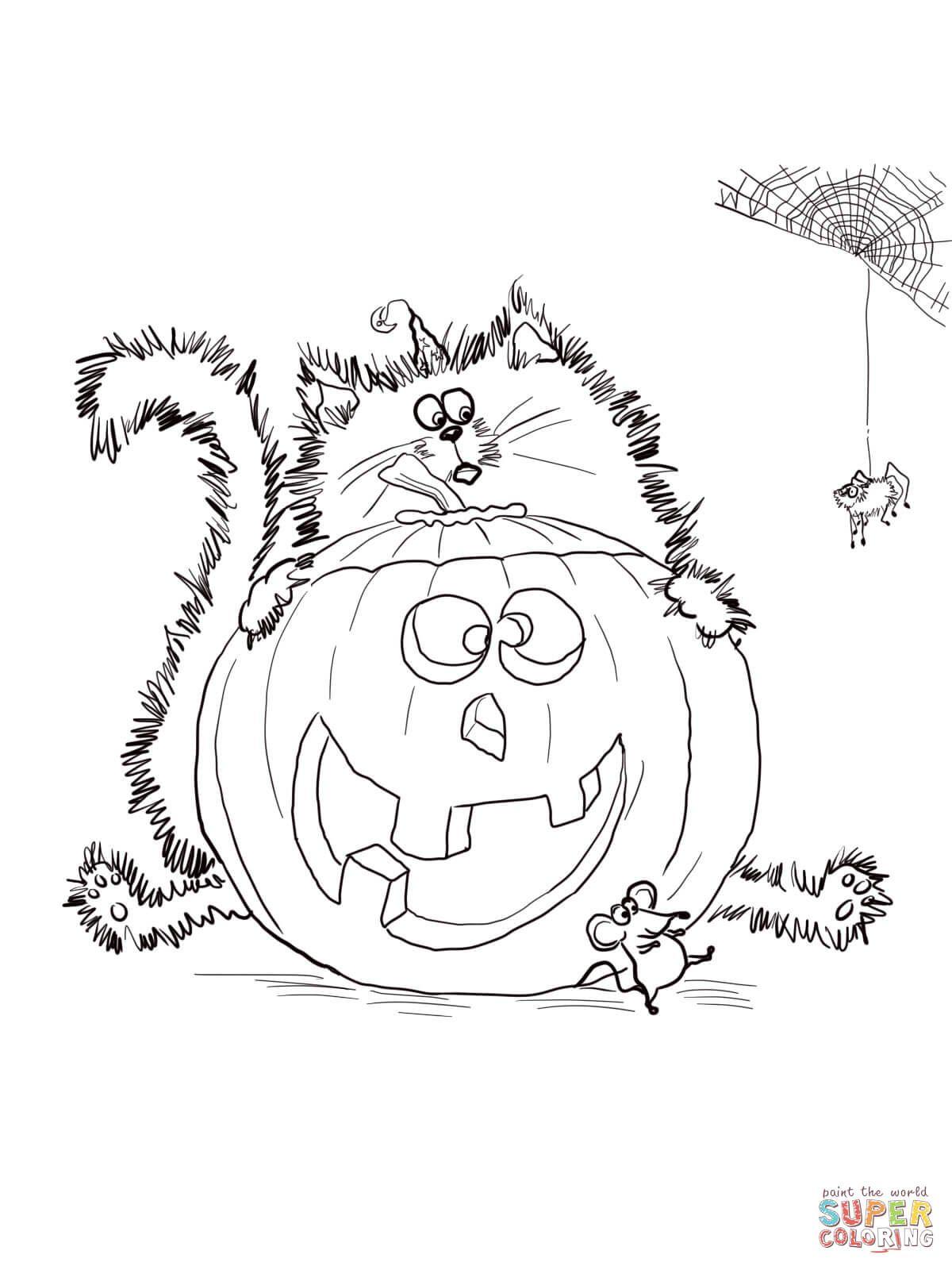 Scaredy Cat Splat  Coloriage haloween, Coloriage halloween