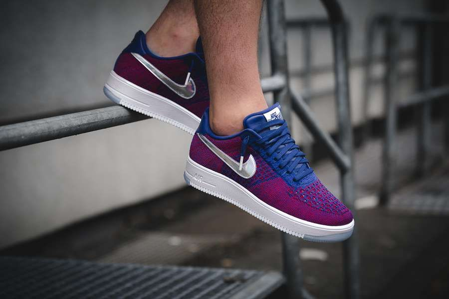 nike air force one ultra flyknit red and blue
