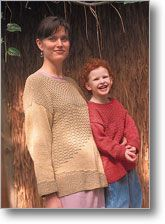 A cotton sweater for that first day of school -whether it's kindergarten or post-doc.