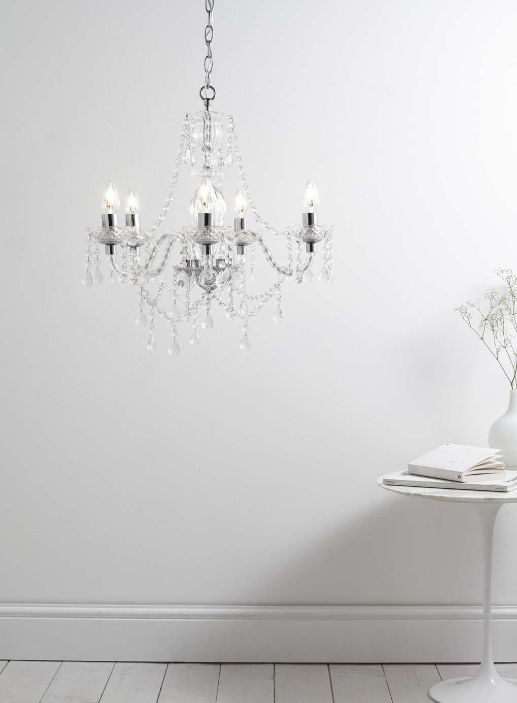 Bathroom Chandeliers Bhs bryony 5 light chandelier, chrome - all home & lighting sale