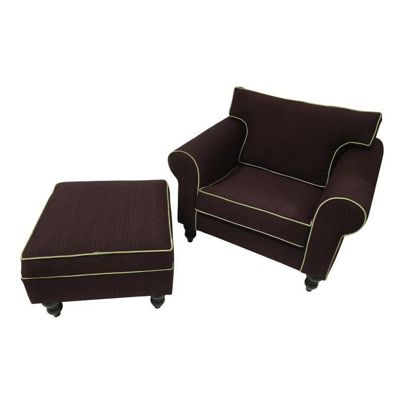 Admirable 1980S Bauhaus Eggplant Upholstered Arm Chair Ottoman A Evergreenethics Interior Chair Design Evergreenethicsorg