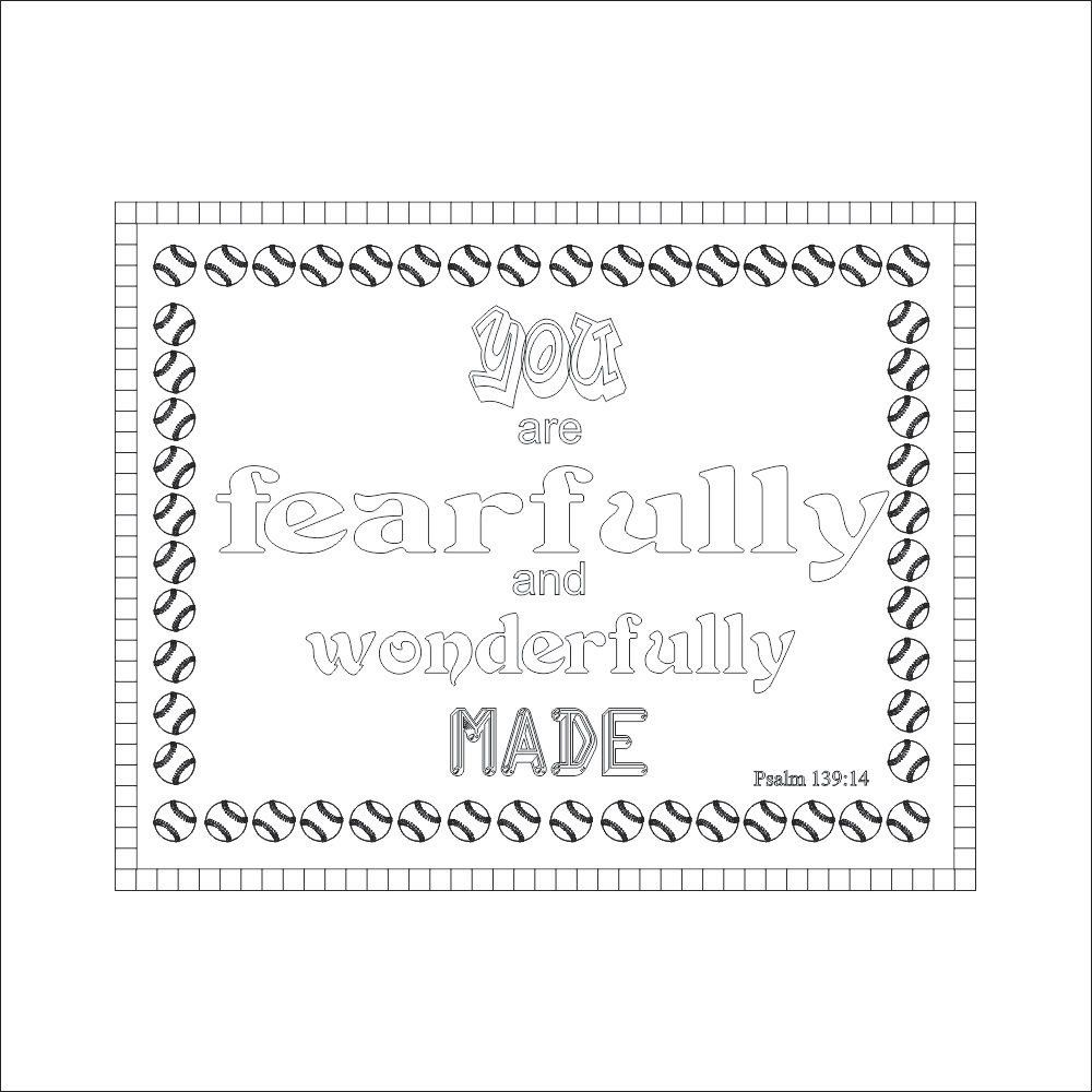 You Are Fearfully And Wonderfully Made Psalm 139 14 Instant Pdf