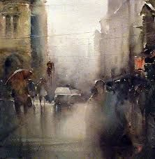 Image result for rainy day watercolor paintings