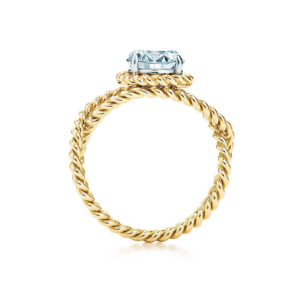 31c8c77476163 Schlumberger® Rope Engagement Ring in 18k Gold in 2019 | Wedding ...