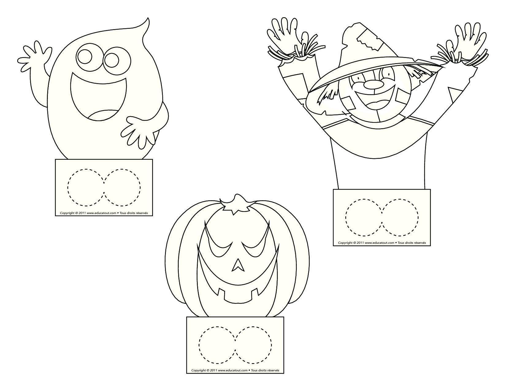 Vingerpoppetjes Thema Halloween Kleurplaten