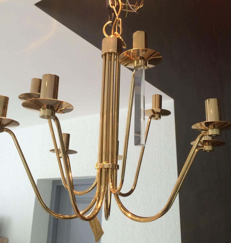 Lustre doré 24k design Stilkronen 9 ampoules vintage chandelier