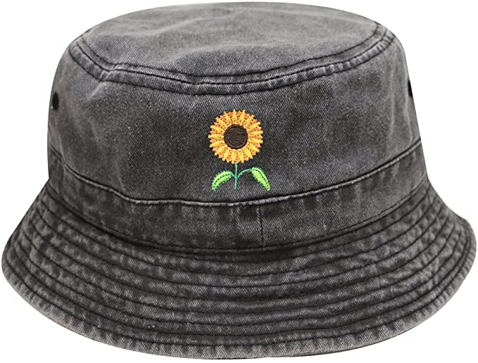 City Hunter Bd2020 Sunflower Vintage Washed Summer Bucket Hats Multi Colors Dark Gray At Amazon Men S Clothing Bucket Hat Fashion Aesthetic Hats Cute Hats