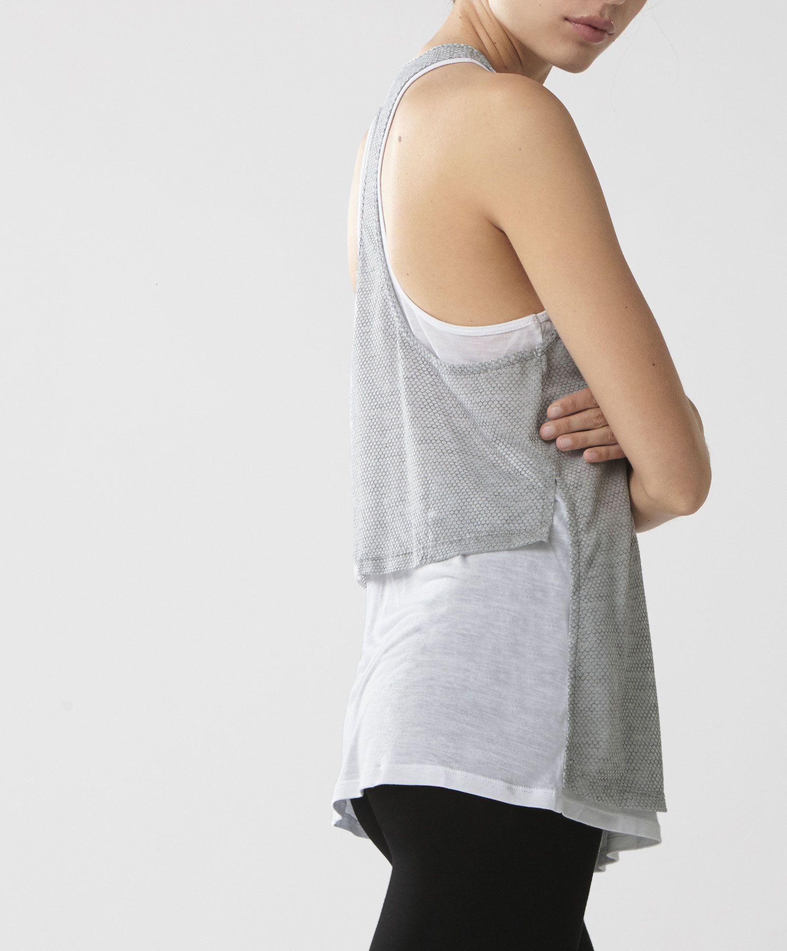 Camiseta Camisetas DeporteOysho Doble Capa Gym Moda Pkn0NXO8Zw