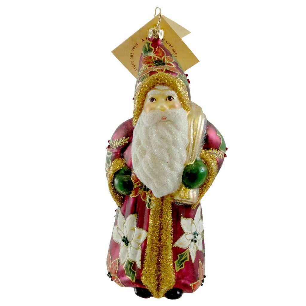 S more ornaments - Gabriela Christoff Kris Kringle Glass Ornament