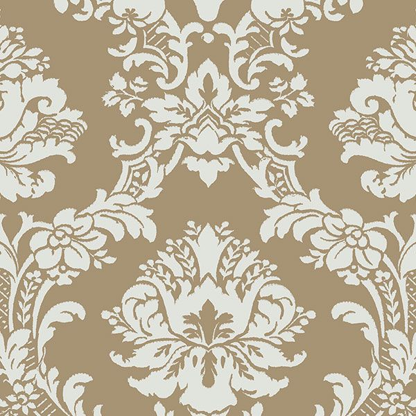 Is A Metallic Gold And Green Damask Wallpaper From The Stripes Damasks 2 Collection This Patton Features Cm Wide Wallpapers That Are