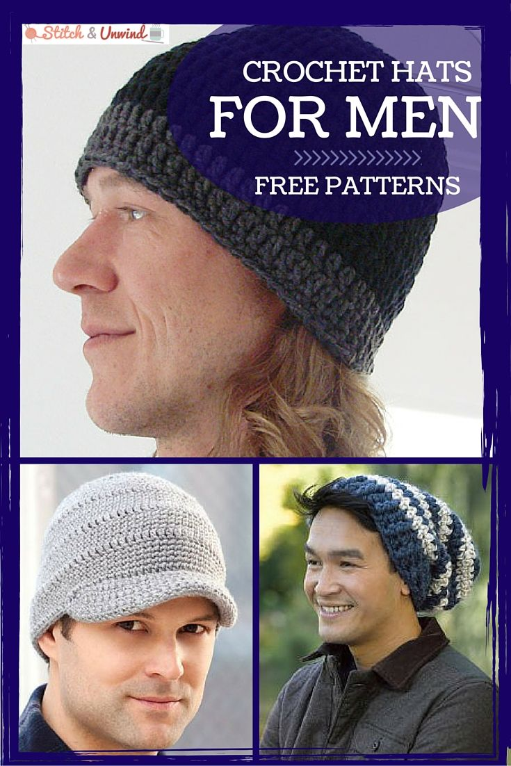 Crochet hats for men crochet for men pinterest easy crochet crochet hats for men easy crochet patterns stitch and unwind bankloansurffo Images