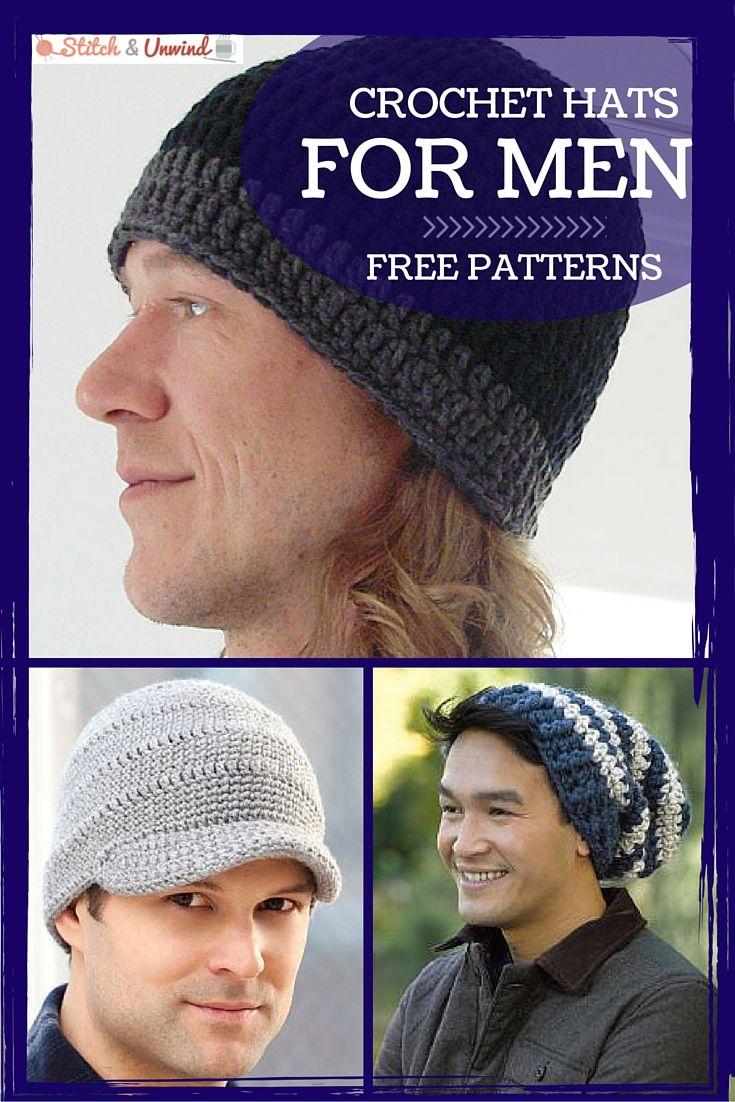 Crochet hats for men crochet for men pinterest easy crochet crochet hats for men easy crochet patterns stitch and unwind bankloansurffo Choice Image