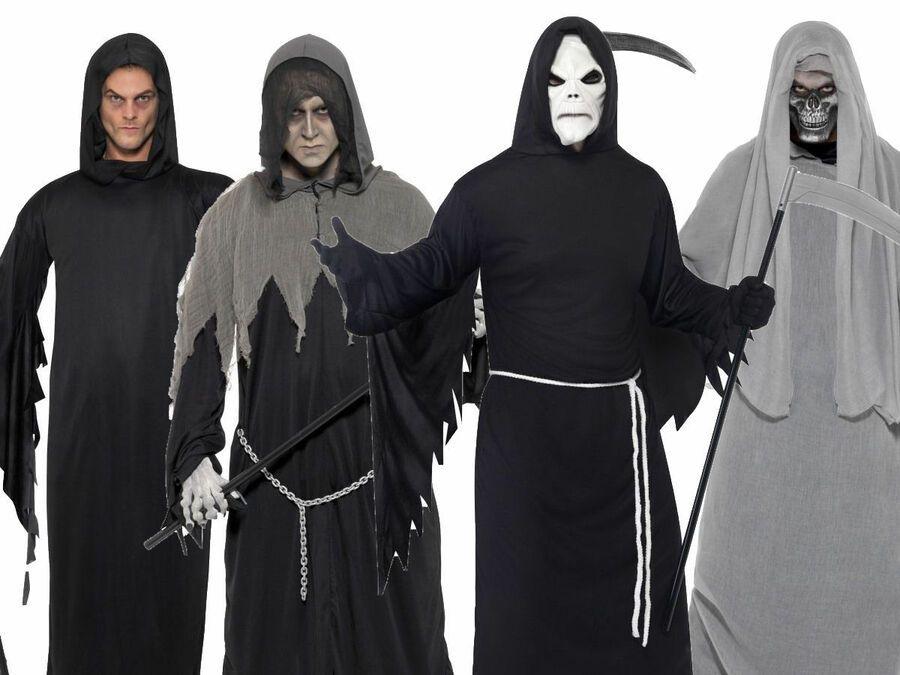 Kids Girls Grim Reaper Soul Eater Halloween Horror Fancy Dress Costume Outfit