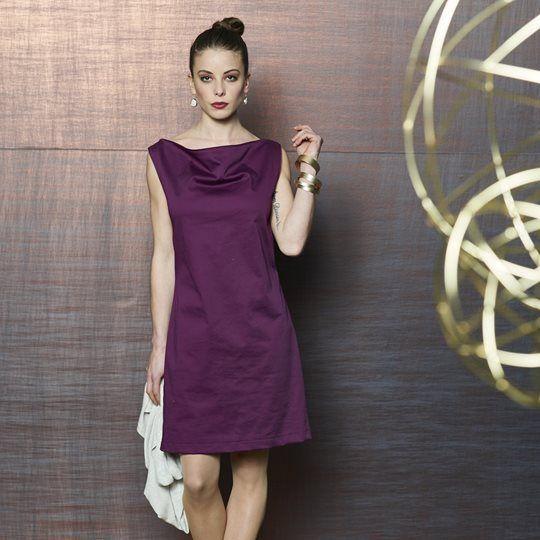Kleid mit Wasserfallausschnitt | Nähen | Pinterest | Sewing, Sewing ...