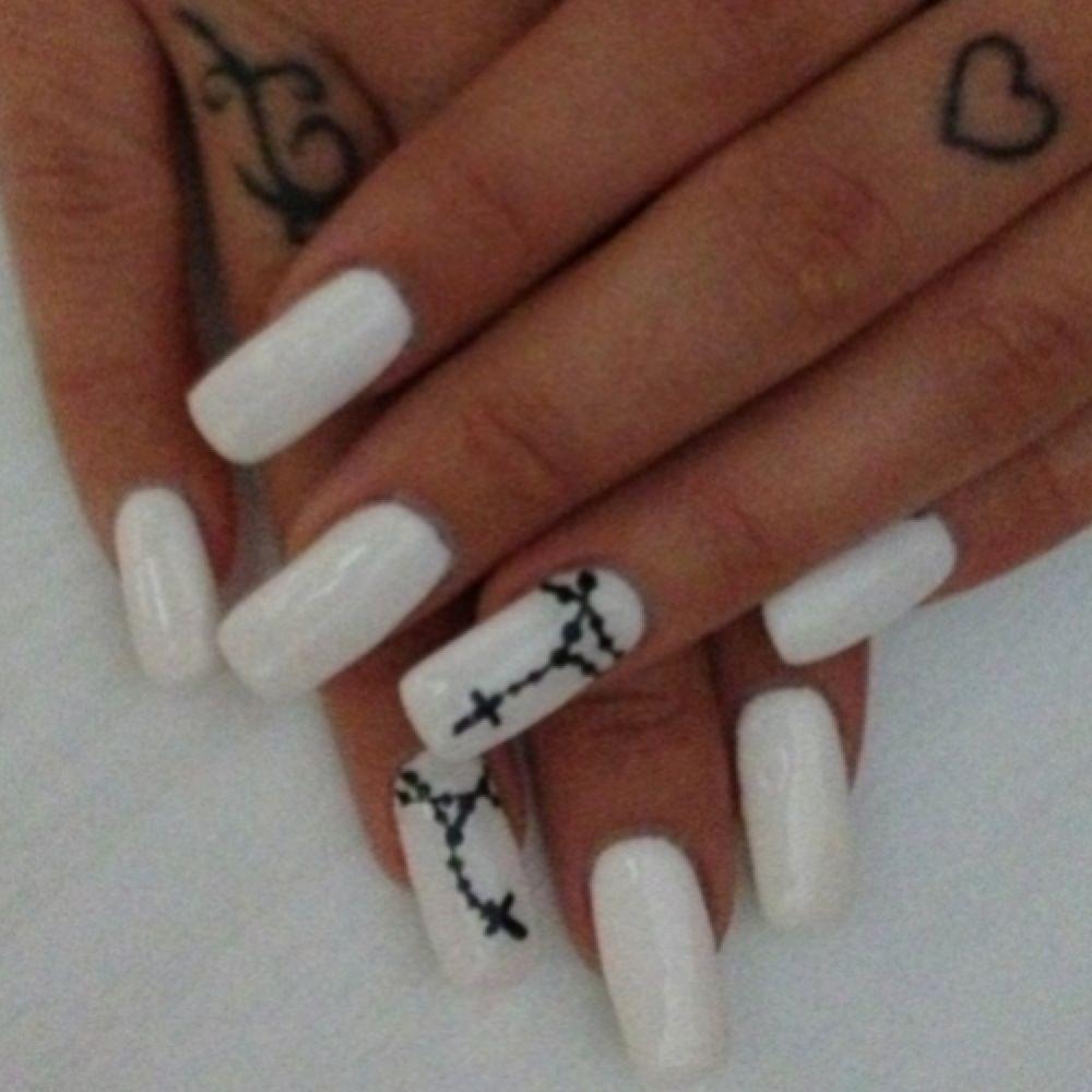 Rosary Nails | hair, nails and make up | Pinterest