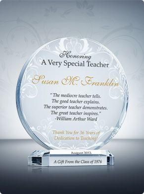 Flame Teacher Appreciation Plaque