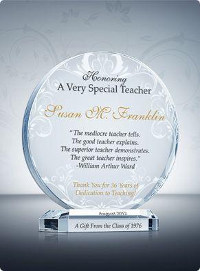 My appreciation for my professor