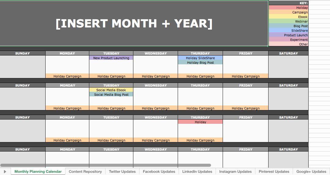 Social Media Calendar Template Download Unique 6 social