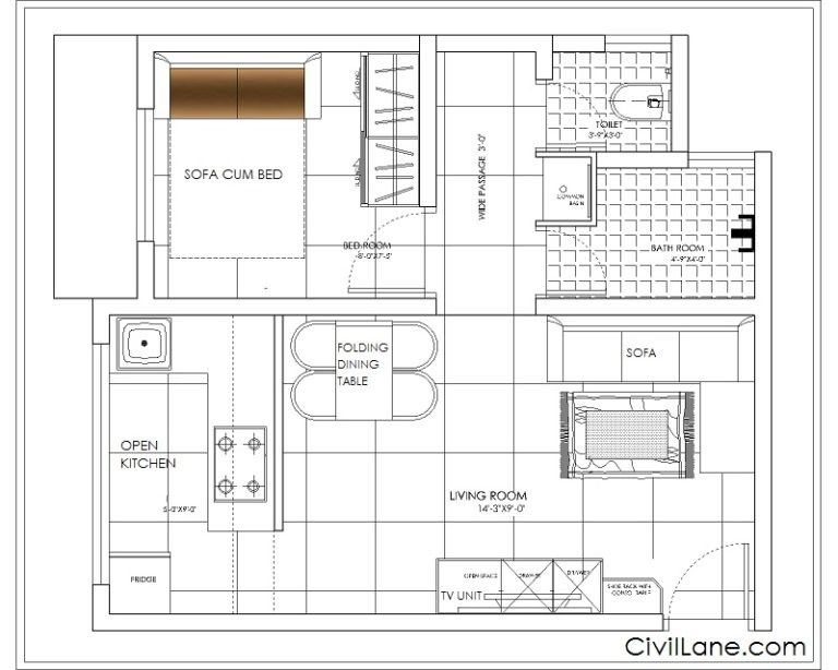 1rk Converted Into 1bhk Renovations Budgeting Floor Plans