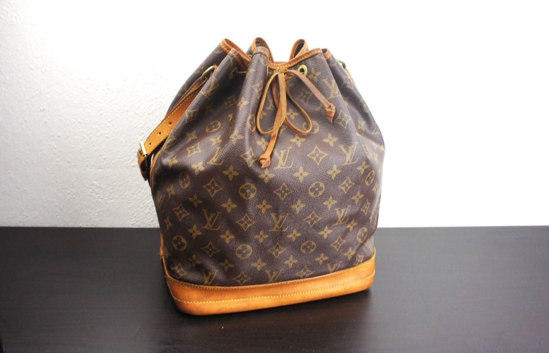 Vintage Louis Vuitton Drawstring Noe Bucket Bag Lv