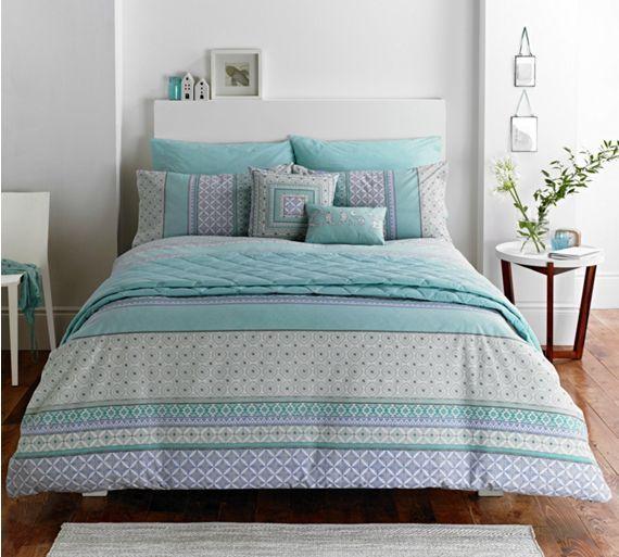 Dreams N Ds Kalisha Blue Duvet, Grey King Size Bedding Argos