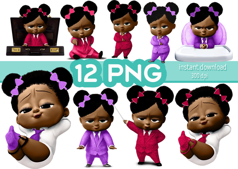 African American Girl Baby Clipart Girl Baby Png Images Etsy Boss Baby Baby Girl Images African American Girl