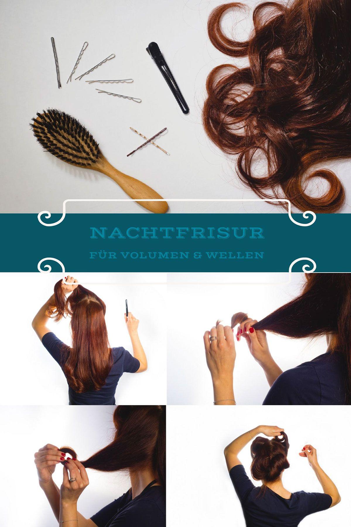Haarbande: Schlafen mit langen Haaren - meine Nachtfrisur  Locken