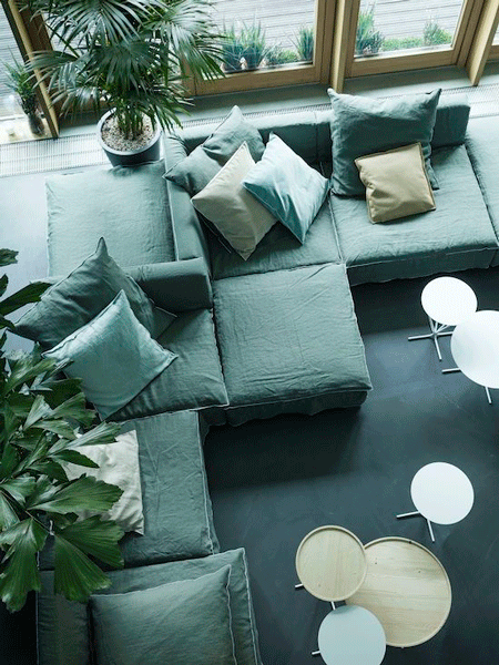Grey Modular Sofa By Paola Navone For Linteloo. Loving This Comfy Modern  Basic.