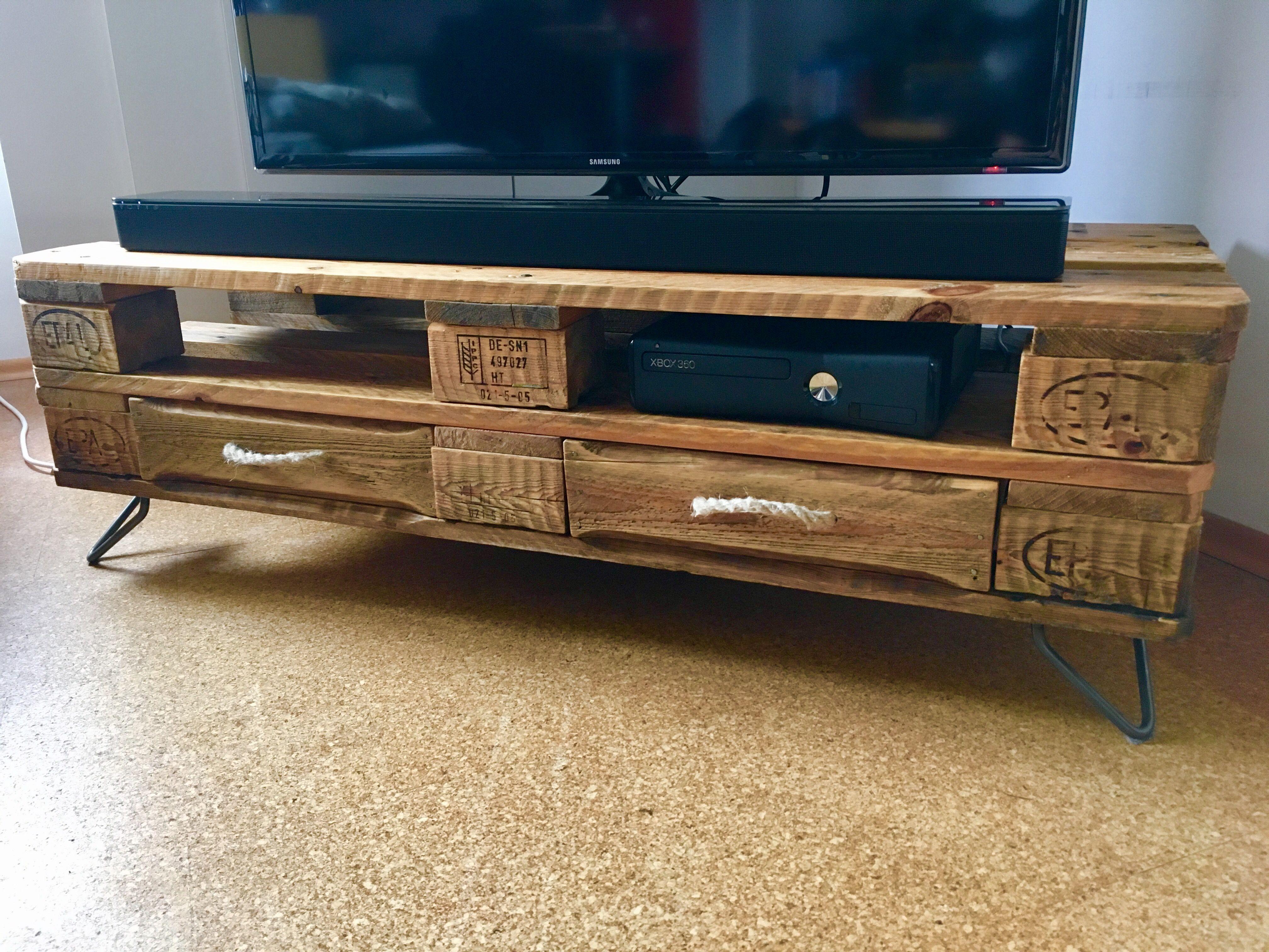 Tv Tisch Paletten Palettentisch Bauen Esstisch Ideen Tisch Aus