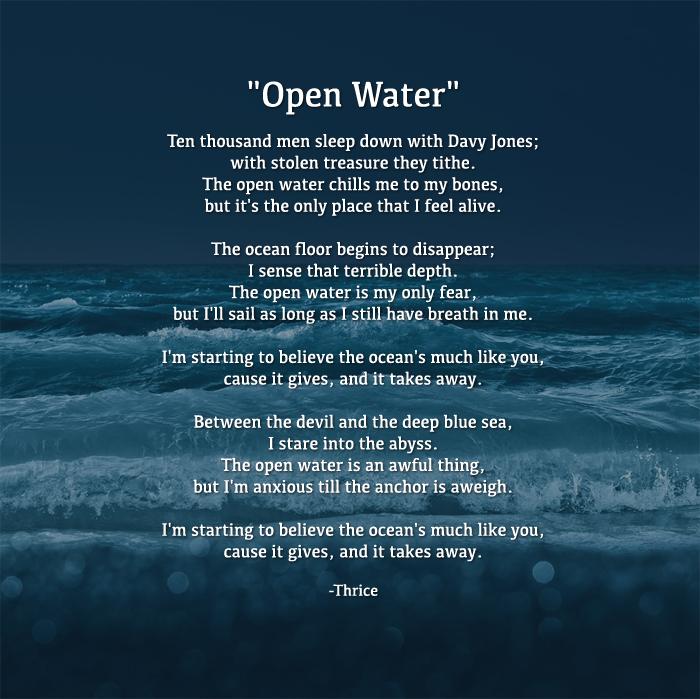 Lyric bones lyrics : Thrice - Open Water Lyrics   Thrice   Pinterest   Open water