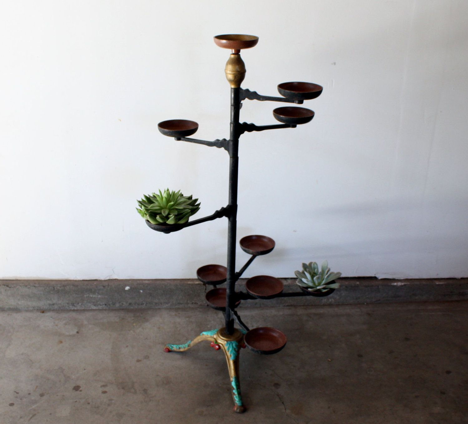 Cast Iron Victorian Plant Stand By Manlyvintage On Etsy, $18500~