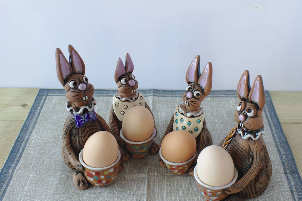 Easter bunny decorations egg cup kitchen decor ceramic rabbit egg easter bunny decorations egg cup kitchen decor ceramic rabbit egg holder farmhouse kitchen decor bunny egg holders easter gifts negle Image collections