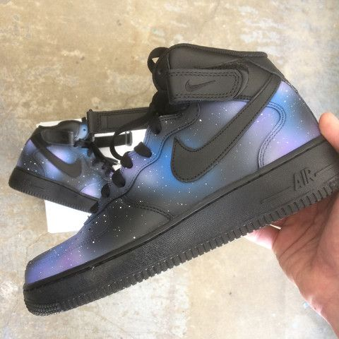 official photos bfe46 08b33 custom shoes, custom sneakers, galaxy nikes, custom nike shoes, galaxy nike  af1, hand painted nike shoes