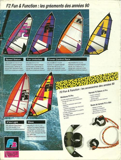 Windsurfing brochures & ads '80′s – early 2000′s (F2, Fanatic, Hi