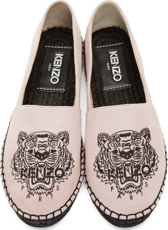7986059f5b6 Kenzo Pink Suede Tiger Espadrilles | S H O E S @ ESPADRILLE ...