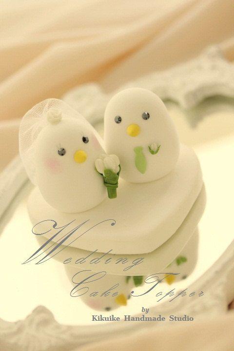 love birds bride and groom Wedding Cake Topper (K344) | Love ...