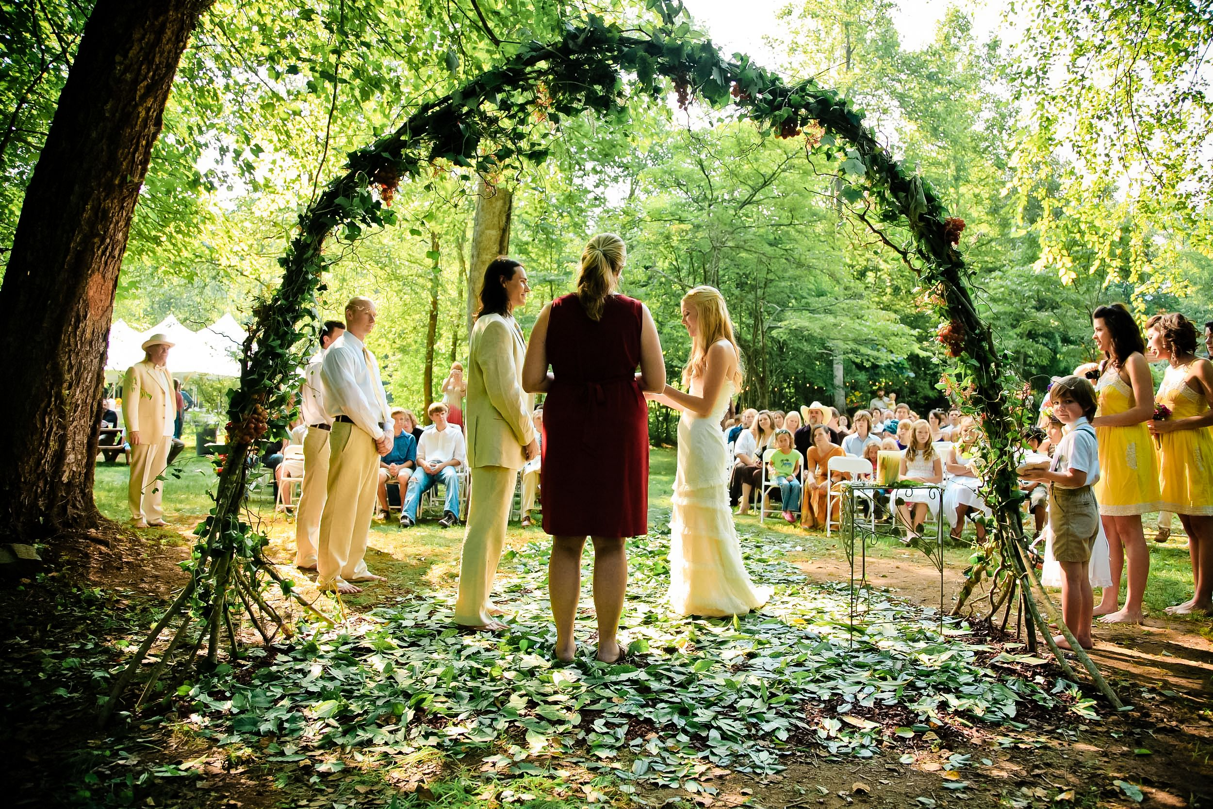 Outdoor Wedding At Blue Creek Cabins In Helen, GA