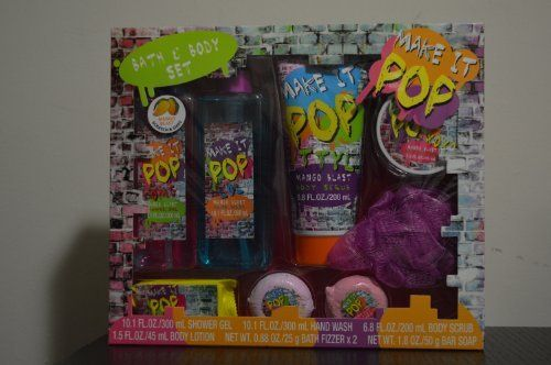 Make It Pop Bath  Body 8 Pc Set Mango Blast -- Read more  at the image link.