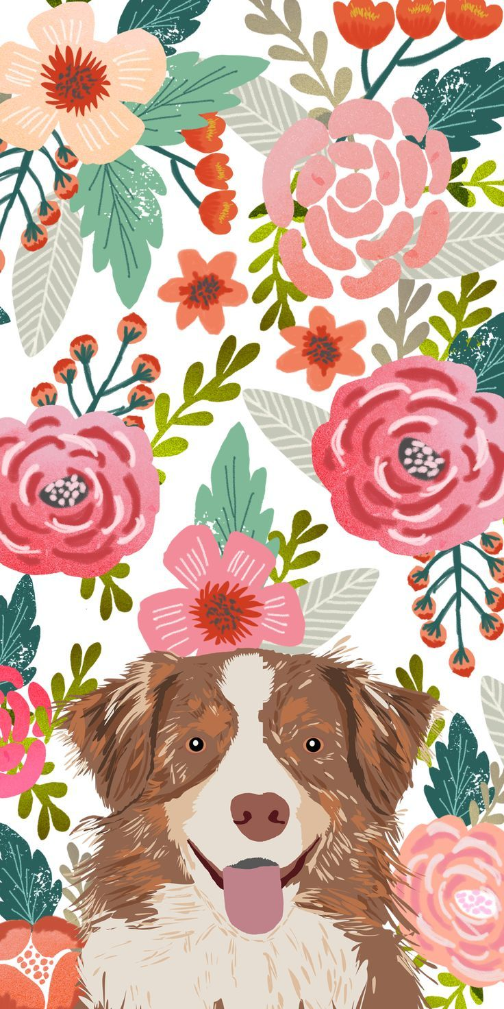 dogs Floral Crown. Casetify iPhone Art in 2019