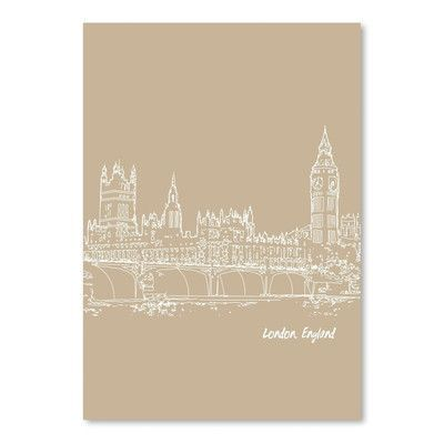 Americanflat Skyline London 7 by Brooke Witt Graphic Art in Tan Size: