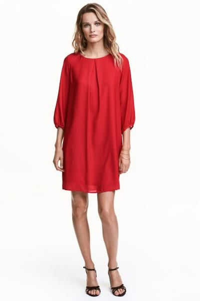 H M Red Dress Shirt Zip Tie Dresses
