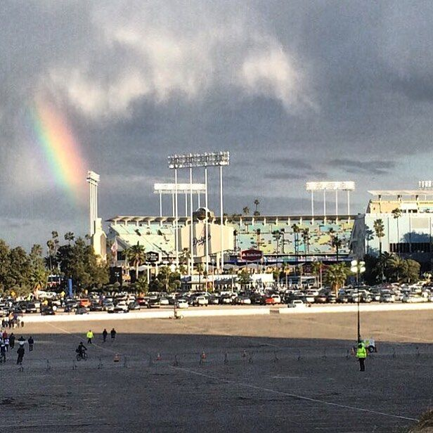 THINK BLUE: My pot of gold at the end of the rainbow  #dodgerbaseball by hzeigs
