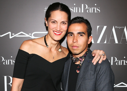 Yliana in Paris with David Gomez Vollamediana | For Harpers Bazaar Mexico & Latino America Celebrating Latin American Designers in Paris |  #latinsinparis #LatinPower