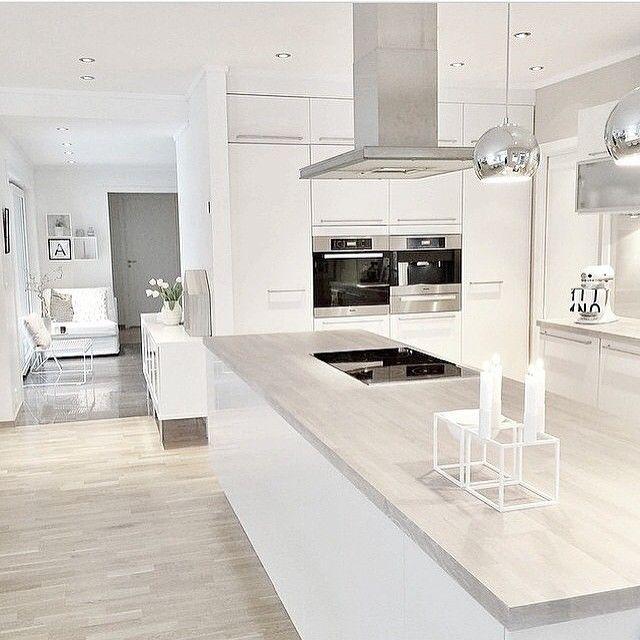 Graue Arbeitsplatte in Holzoptik Küche Pinterest Nice - arbeitsplatte küche grau
